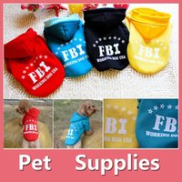 Hot Sale FBI Big Dog Animaux chaud Coton Veste Manteau Veste d'hiver Hoodie Vêtements Chiot d'hiver Pet Costume Pet Supplies 160911