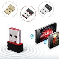 wifi portátil para pc al por mayor-con Retail Box 150Mbps 150M Mini USB WiFi Adaptador inalámbrico LAN Tarjeta de red 802.11n / g / b para PC Portátil
