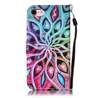 Wholesale iphone 5s case wallet online - For Iphone I7 S Plus SE S Ipod Touch th th Butterfly Mandala Flower Wallet Leather Case Datura Tree Owl Pouch Stand Phone Cover