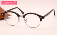 Wholesale Top Brand Optical Glass Frame - top fashion brand designer men women ROUND frames optical brand eyeglasses frame top quality 4246v black glasses frame 51mm in box case
