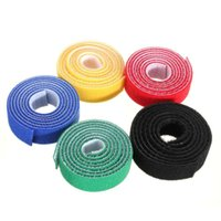 Wholesale Tv Cable Ties - High quality 100cm*20mm Magic PC TV Computer Wire Cable Ties Organizer Maker Holder Management Straps tie magic tape