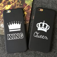 Wholesale Crown Iphone Case Cover - For iphone 7 7 plus Case KING Queen Crown Matte Hard PC Back Cover Cases For iphone 5 5s 6 6s plus Cellphone Cases Free DHL 202