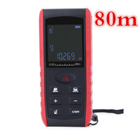 1 unids / lote nuevo 80 m Digital Laser Distance Meter Laser telémetro Handheld Range Finder Area Volume Measurement
