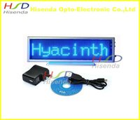 Wholesale Led Display Signs Wholesale - Scrolling LED Moving Sign Rechargeable Edit By PC Message Programmable Display Desk Board Blue mini led display panel