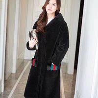 Wholesale Womens Coats Sheep Fur - Womens fur clothing Genuine Merino Sheep shearling Coat Long High quality cashmere overcoat Jacket