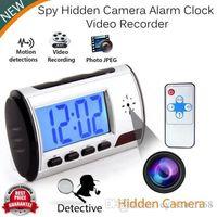 Wholesale Alarm Clock Hidden Camera Dvr - Spy Camera Alarm Clock Mini Video Recorder Hidden Cam DVR Motion Detection nanny cam Surveillance
