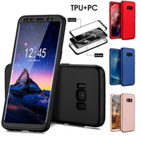 Wholesale Galaxy Note Gold Bumper - New 360 Degree Full Body Protection Soft TPU+PC Case For Samsung Galaxy S8 Note 8 Shockproof Hybrid Bumper Cover For Iphone X 8 7 6s plus
