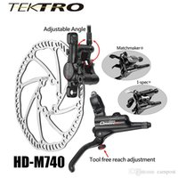 Wholesale Disc Caliper - TEKTRO HD-M740 Mountain Bike Bicycle Caliper Brake + Lever Brake Aluminum Hydraulic Disc Cycling Brake About 293g