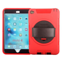 Wholesale Ipad Handheld Case - For Handheld Case iPad Mini 4 Case Durable 3 Layers Rugged Hybrid Shockproof Waterproof Portable Cover with 360 Rotatable Stand