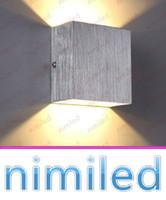 ingrosso lampade da letto minimalista della camera da letto-Nimi973 6W minimalista in alluminio a LED Lampade da parete quadrate comodino camera da letto soggiorno divano TV sfondo Cafe luci corridoio illuminazione corridoio