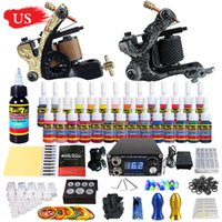Wholesale Tattoo Needles Grip Tip - US SHIPPING! Solong Tattoo® Complete Tattoo Kit 2 Pro Machine Guns 28 Inks Power Supply Needle Grips Tips TK222US