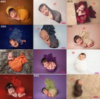 baby stütze garn großhandel-Mehrfarben 35 * 150cm Kinder fotografieren Kleidungsstudio-Verpackungsgarn neugeborenes Baby Foto-Stützenbaumwollverpackung geben Verschiffen frei