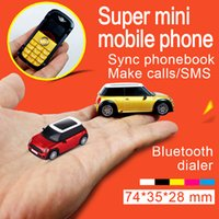 Wholesale Super Model Phone - DHL Free shipping New Unlocked Fashion dual sim card single band mobile phone super mini car model design cell phone cellphone Bluetooth