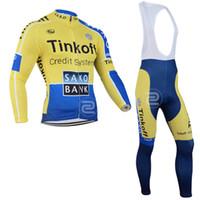 Wholesale Saxo Bank Long Sleeve - KTM Tinkoff saxo bank bicicleta winter Cycling clothing long sleeve cycling jersey set ropa ciclismo hombre MTB bike jersey maillot ciclismo