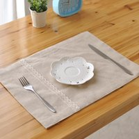 Wholesale table napkin sale resale online - Sale Japan Style Rectangle Placemats Cotton Napkin Table Placemat Dish Mats For Home Decorative Wedding