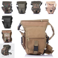 Unisex outdoor table legs - 2016 Multi Function Military Travel Outdoor Leg Bags Color Cycling Thigh Messenger Pack Shoulder Waist Bag Free DHL E601L