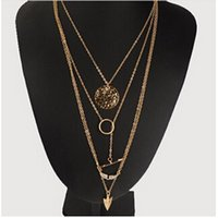 Wholesale Womens Chunky Chain Necklace - Women Fashion Charm Jewelry Choker Chunky Statement Bib Pendant Gold Chain Necklace Gift Womens Clothing Accessories