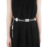 Wholesale Decorative Chain Metal Belt - Korean Wild Lady 2016 Elegant Edition Decorate Pearl Chain Belts For Women Decorative Skinny Evening Dress Femme Ceinture BL774