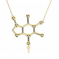 Wholesale Copper Structures - Factory Price New Chemistry Necklace Women Simple Geometric Necklaces Molecule Necklace Chemistry Structure Silver Gold Necklace Unisex