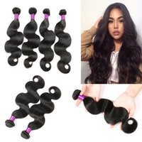 Wholesale Remy Extensions Buy - Malaysian Hair Weave Body Wave Bundles Can Buy Human Hair 3 4 Bundles With Closure Bellqueen Non-Remy Hair Extensions