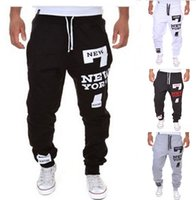 Wholesale Hot Cool Wear - Wholesale-Outdoor trousers hot selling men's loose-fitting trousers letter printing buggy cool long wide sweatpants jogger wearing