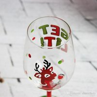 Wholesale beautiful flower art painting resale online - Hand painted beautiful red wine glass