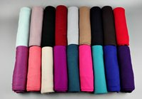 Wholesale Wholesale Woven Wraps - 5pcs lot Muslim scarves hijabs 20 colors for choice jersey scarf for women lady arabic scarves modal wraps BS82 180*85cm