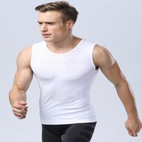 Wholesale Tight Shirts Sport For Men - Wholesale-Top Selling For Men's Compression Base Layer Fitness Gym Yoga Tight Shirt Vest Sport Tops M L XL