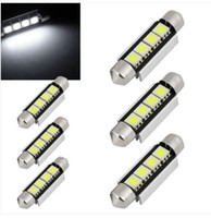 Wholesale Can Bus Led Bulbs - 100PCS Festoon Canbus 44mm 42mm SV8,5 C10W 264 SMD LED CAN-BUS interior Car Bulbs WHITE wholesale price
