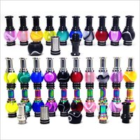 Wholesale Ego Hybrid - 2016 New rainbow Acrylic Hybrid Ming Vase 510 Drip Tips rich color 510 mouthpiece for eGo Nova DCT kanger Protank E cigarette atomizer