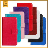 Wholesale Lg Optimus L5 Phone Cases - Wholesale-Case For LG Optimus L5 II E450 E455 E460 Luxury Flip Leather PU Wallet Stand Cover For LG Optimus L5 II 2 Dual Phone Bags+Gift