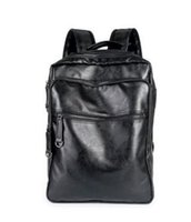 Wholesale Leather Backpack Camping - sales brand new Europe college mens bag wind leisure brand backpack for male and female students leather bag Fashionable male bag