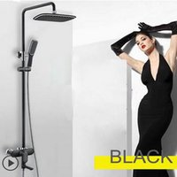 Wholesale Hot Cold Water Color - 2017 Factory Direct Sales New Luxury Black  White Color Exposed bath and shower Solid brass shower Mixer Faucets Hot Cold Water Control