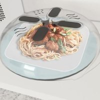 Wholesale Cover Dishes - Magnetic Microwave Splatter Lid With Steam Vents Dishwasher Hover Cover Guard Lid Dish Food Cover KKA3017