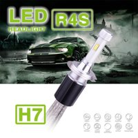 1 Set H7 R4S 90W 10400LM Phare avant LED Auto Super Slim Conversion Kit Single Beam Driving Lampe à brouillard 45W 5200LM Remplacer HID Xenon Halogen