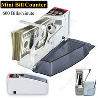 Wholesale Money Counts - Wholesale- BOBLOV V40 Mini Portable Cash Count Money Currency Counter Fast Counting Multi Bills Free shipping