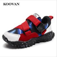 Wholesale Korean Kids Shoes - Running Shoes Mix Color Sneaker Hot Sale Korean Big Kid Shoe Mesh Fabric Toddle Shoes Wholesale 2017 Koovan High Quality Free Ship K428