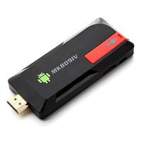 Wholesale Wifi Wireless Box Hdmi Tv - MK809IV Smart TV 2GB 8GB Android TV Box Wireless HDMI Dongle Android Mini PC Quad Core RK3188T WIFI Bluetooth TV Stick