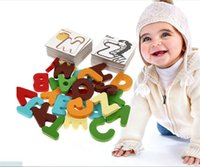 Wholesale Early Baby - New Wooden Early Education Baby Preschool Alphabet Learning ABC Alphabet Letter Cards Cognitive Toys Animal Puzzle