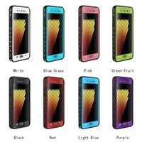 Wholesale solid color case note online - Shell Waterproof Shockproof Dirt Snow Proof Durable Dot Case Cover for Sumsung note7 note solid color backcover