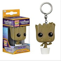 Big Kids dancing bear toys - New hot sale anime figure PVC toys Guardians of the Galaxy Dancing Groot Bear key chain CM gift for children