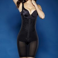 Wholesale Full Body Nylons - Wholesale-Full Body Waist Cincher Hip Abdomen Tummy Control Corset Shapewear Suit Hot Shapers Y46