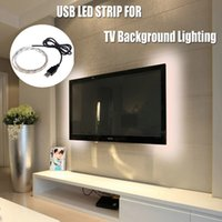 Wholesale Cable Stripping Yellow - 50cm 100cm 150cm 200cm 5050 SMD 30LEDs M USB Cable LED Festival stripe light lamp DC 5V LED Strips TV Background Lighting Kit
