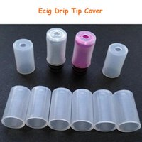 Wholesale Ego Ce4 Ce5 Drip Tip - Plastic Test Drip Tips Caps Disposable testing Tips Atomizer Cover Silicone Cap for eGo CE4 CE5 CE6 Clearomizer Electronic Cigarette DHL