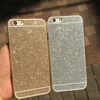 Wholesale Iphone Case Titanium - Luxury Titanium Glitter Shimmering Powder Cell Phone Case PC Hard Shell Shockproof Cell Phone Back Cover for Iphone5 Iphone6 Iphone6plus