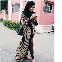 Wholesale Muslim Dresses Females - 2016 Limited-Promotion Adult Fashion Cardigan Abaya Jilbabs And Abayas Muslim Female Long-sleeved Islamic Arab Dress