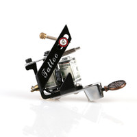 Wholesale tattoo guns design - New Design New Cast Iron Tattoo Machine Shader 10 Coils Tattoo Machine Gun Art Supply TM8397