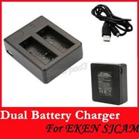 Wholesale post for camera resale online - Tnt Post Cheap Action Camera Accessories EKEN Sjcam Universal Dual Battery Charger For SJ4000 SJ4000 Wifi SJ4000 SJ5000 SJ5000 SJ6000 M10