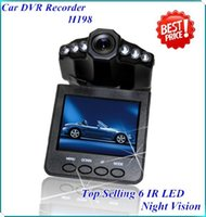 Wholesale Top Car Black Box - NEW Top selling 2.5'' Car Dash cams Car DVR recorder camera system black box H198 night version Video Recorder dash Camera