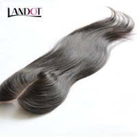 Wholesale Brazilian Straight Closures - Brazilian Straight Lace Closure Free Middle 3 Part Human Hair Closures Brazilian Straight Virgin Hair Top Lace Closures 4x4 Natural Black